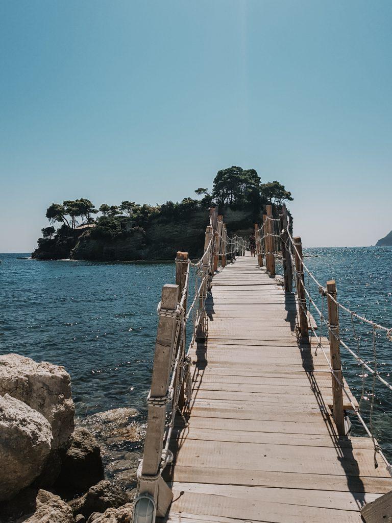Cameo Island brug Zakynthos haven Agios Sostis