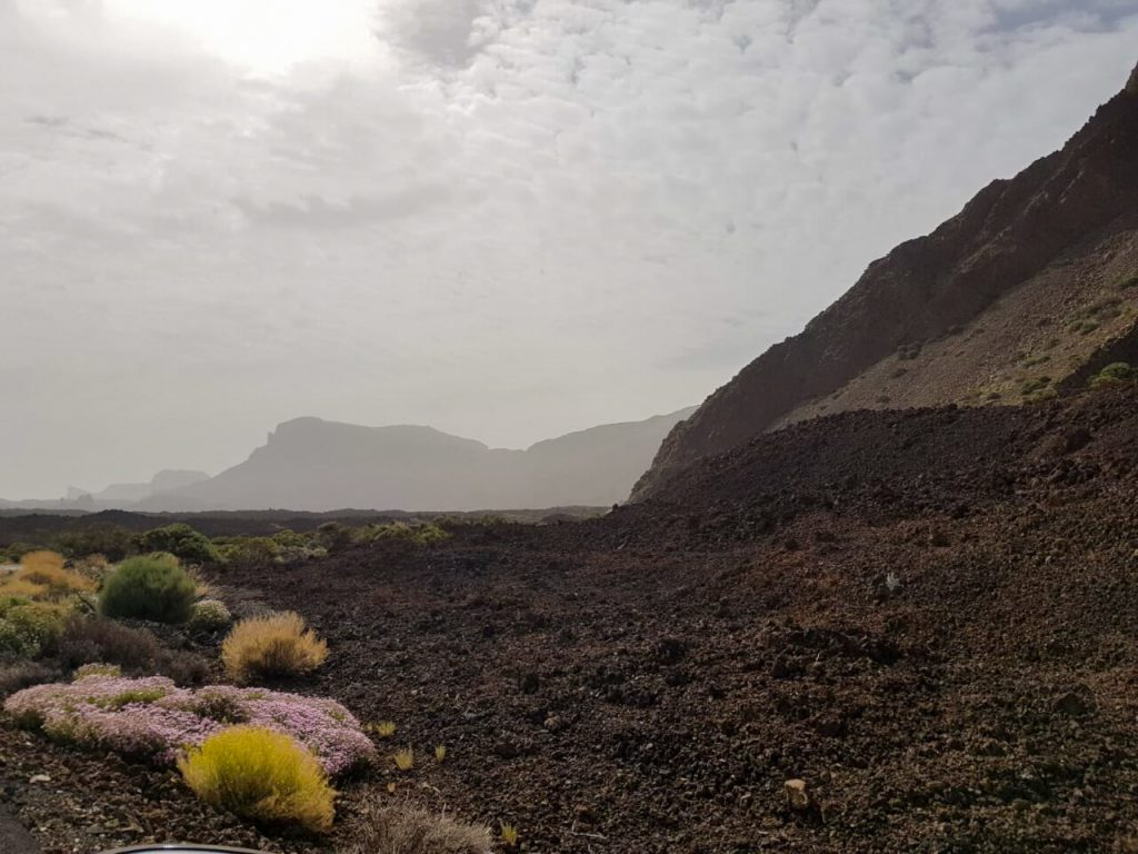 El Teide donker landschap bezienswaardigheden op Tenerife