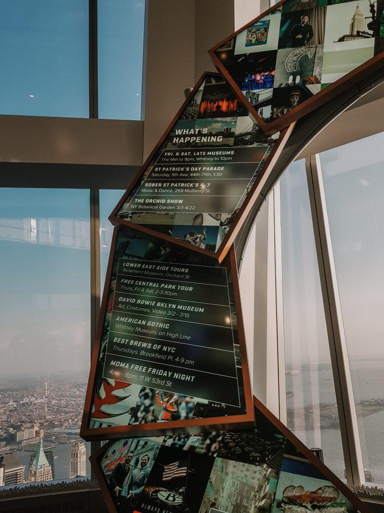 One World Observatory informatiebord