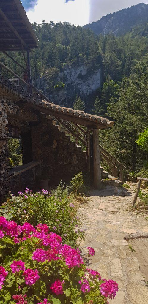 Potami watervallen restaurant Samos