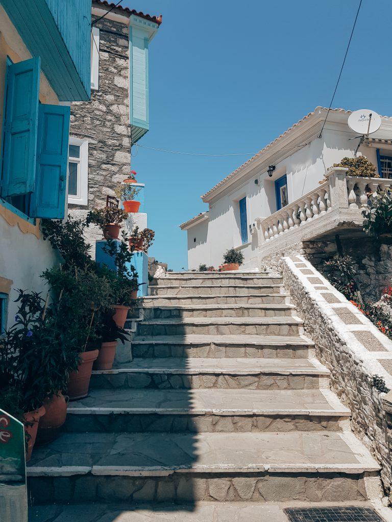 Kokkari trap Samos bezienswaardigheden