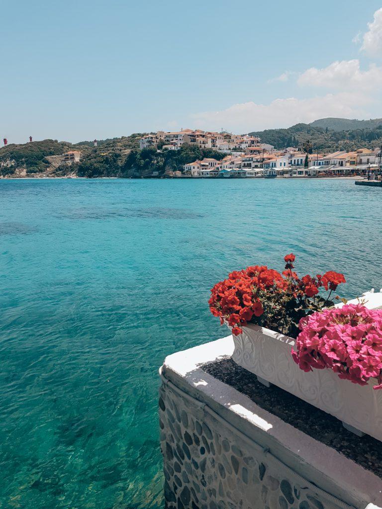 Kokkari uitzicht cafe Samos Griekenland