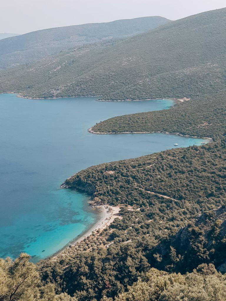 Uitzicht vanaf klooster Samos beizenswaardigheden