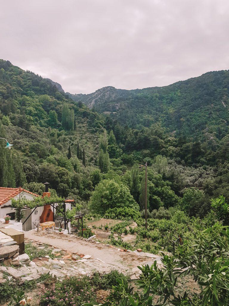 Bergdorpje Griekse eiland Samos