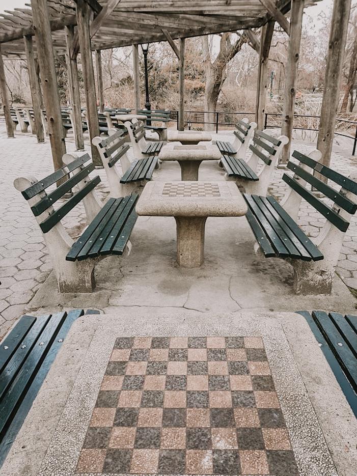 Schaaktafels Central Park