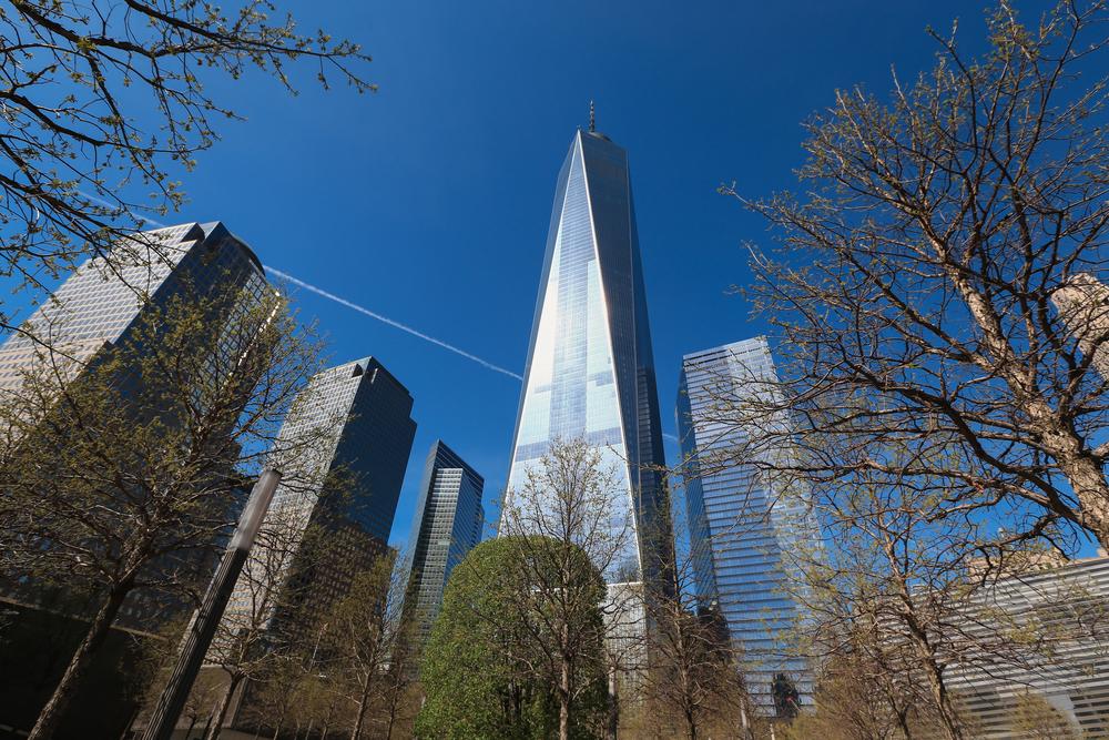 Uitzicht op One World Trade Center