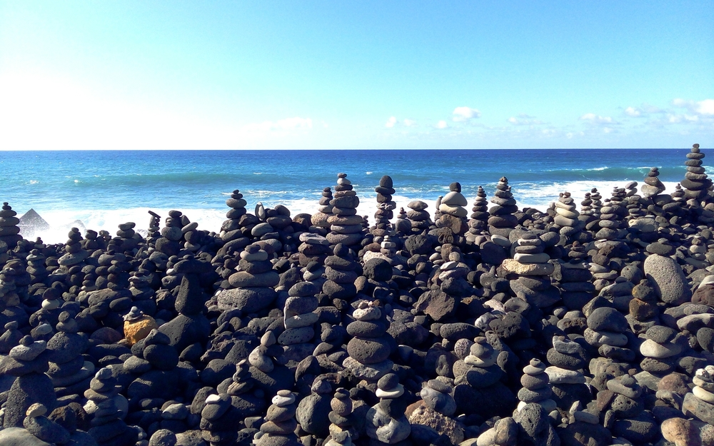Stenen strand Puerto de la Cruz