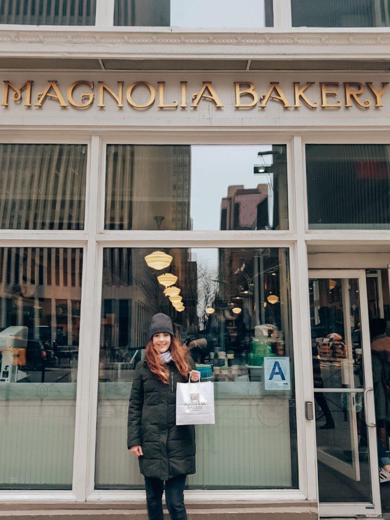 Magnolia's Bakery cupcake to go