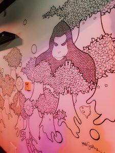 Muurschildering Monkey Bar