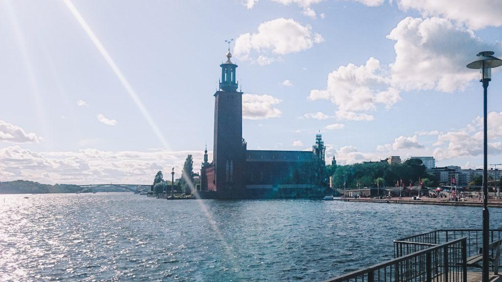 Stadhuis Stockholm vanaf het water