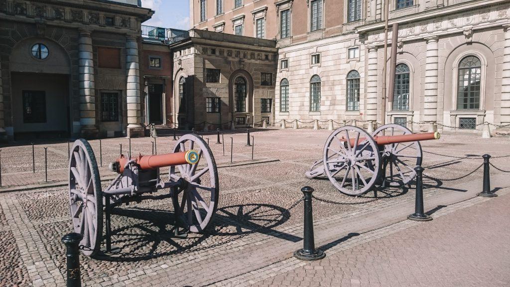 Kanonnen koninklijk paleis Zweden