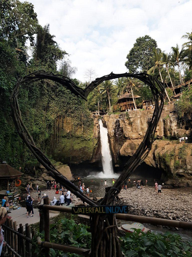 Hartje bij Tegenungang watervallen op Bali