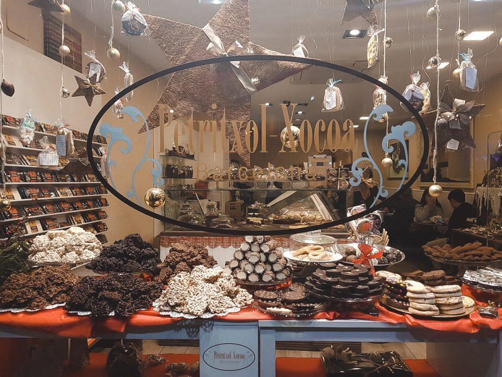 Petritxol aan de chocoladestraat van Barcelona