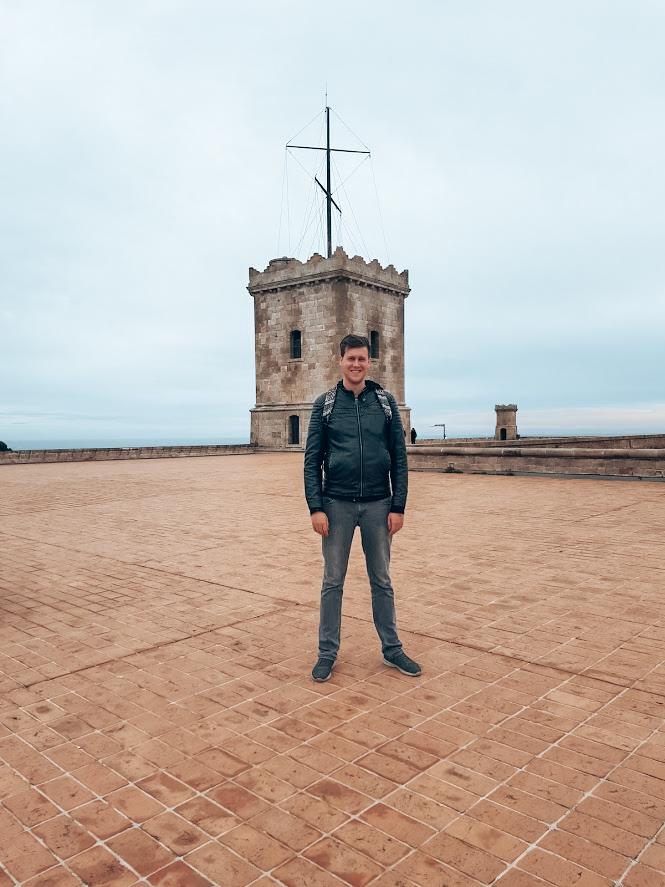 Uitzicht vanaf dak kasteel de Montjuïc