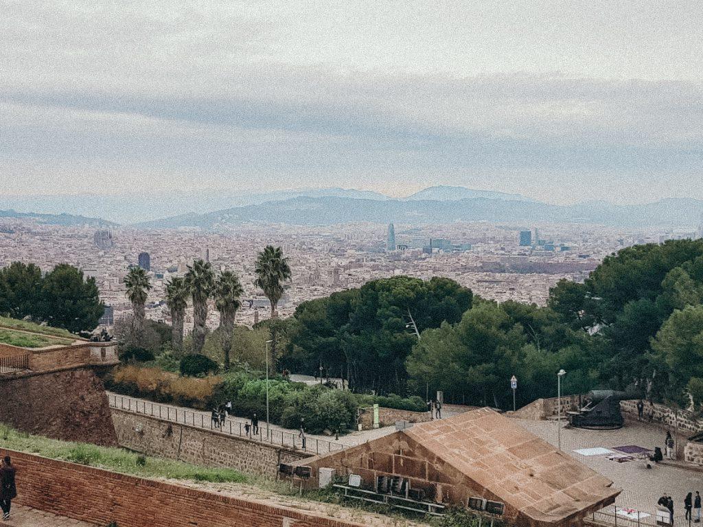 Uitzicht kasteel vanaf het dak