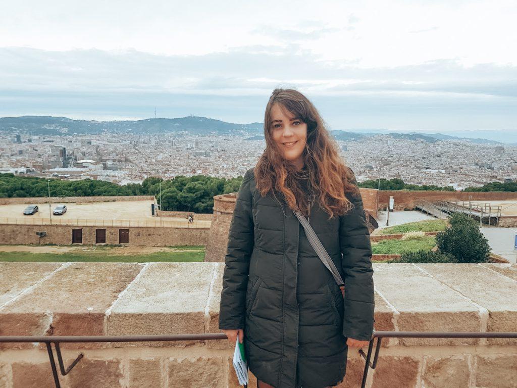 uitzicht Barcelona vanaf kasteel