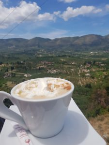 Koffie Lofos uitzicht